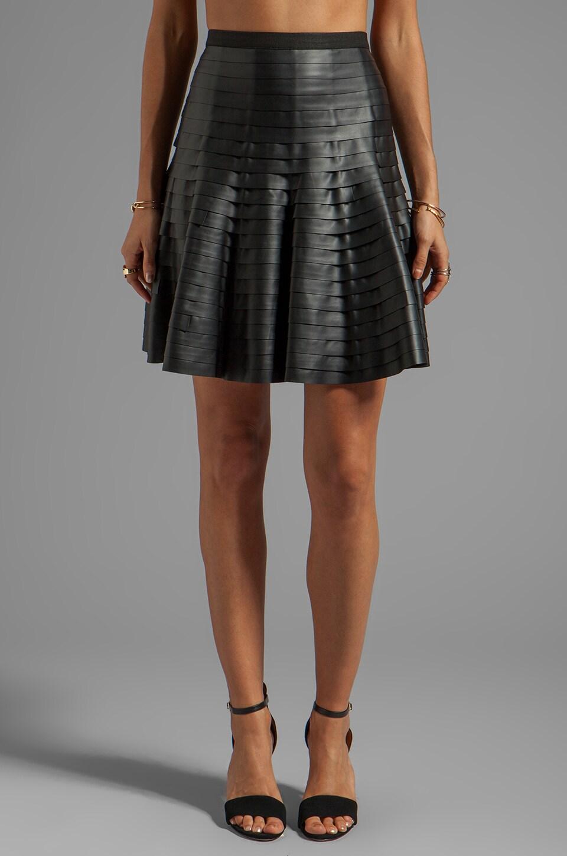 BCBGMAXAZRIA Ruffled Circle Skirt in Black