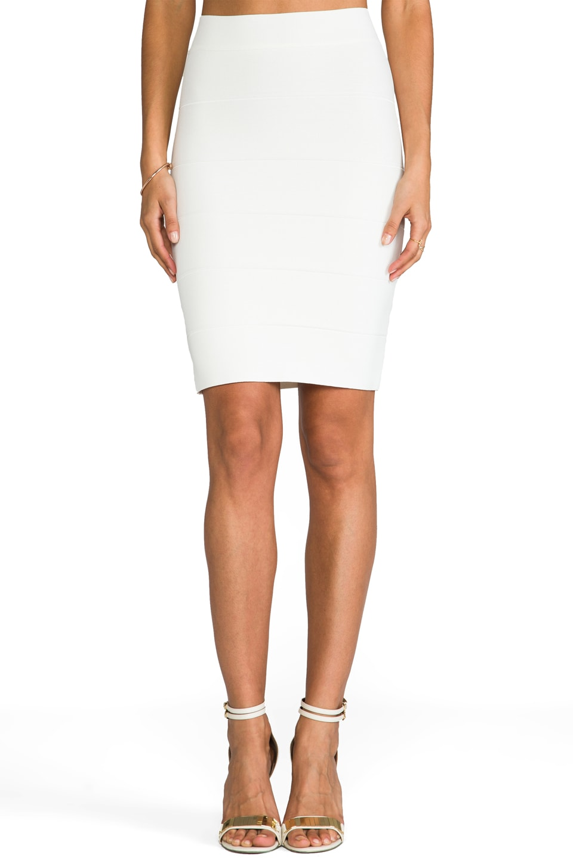 BCBGMAXAZRIA Alexa Skirt in Gardenia