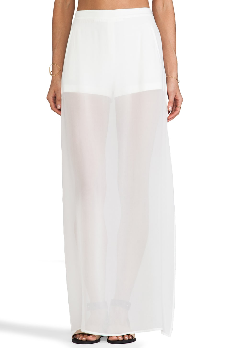 BCBGMAXAZRIA Beshoy Skirt in Off White