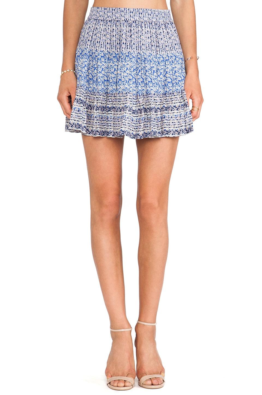 BCBGMAXAZRIA Paula Skirt in Cobalt Blue Combo