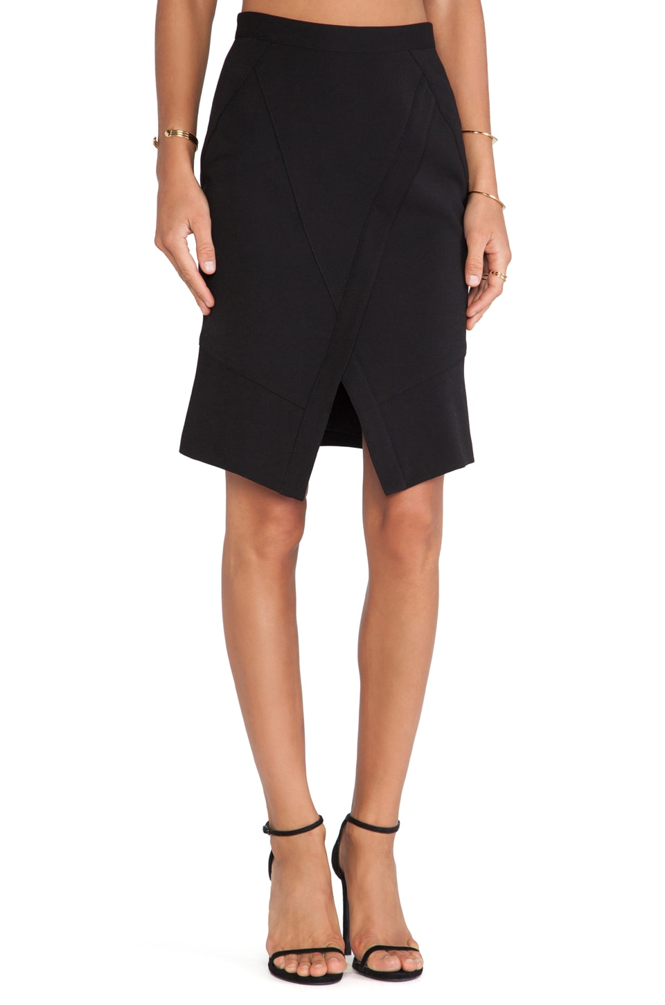 BCBGMAXAZRIA Taylon Wrap Skirt in Black