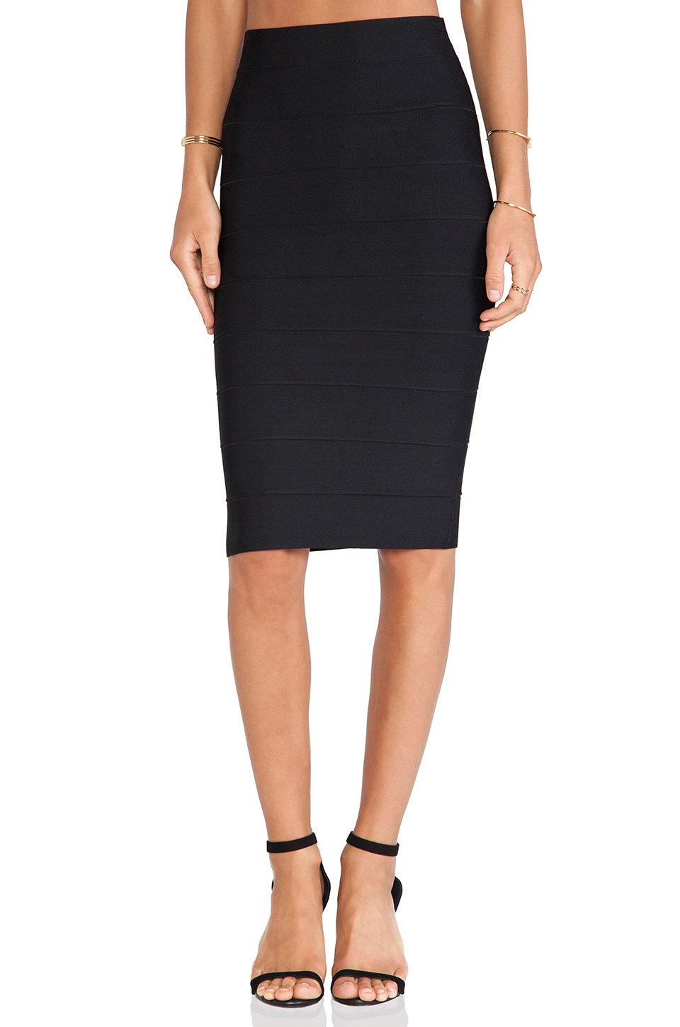 BCBGMAXAZRIA Leger Pencil Skirt in Black