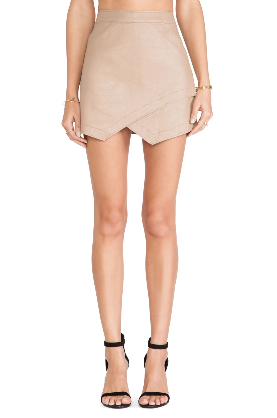 BCBGMAXAZRIA Envelope Skirt in Camel