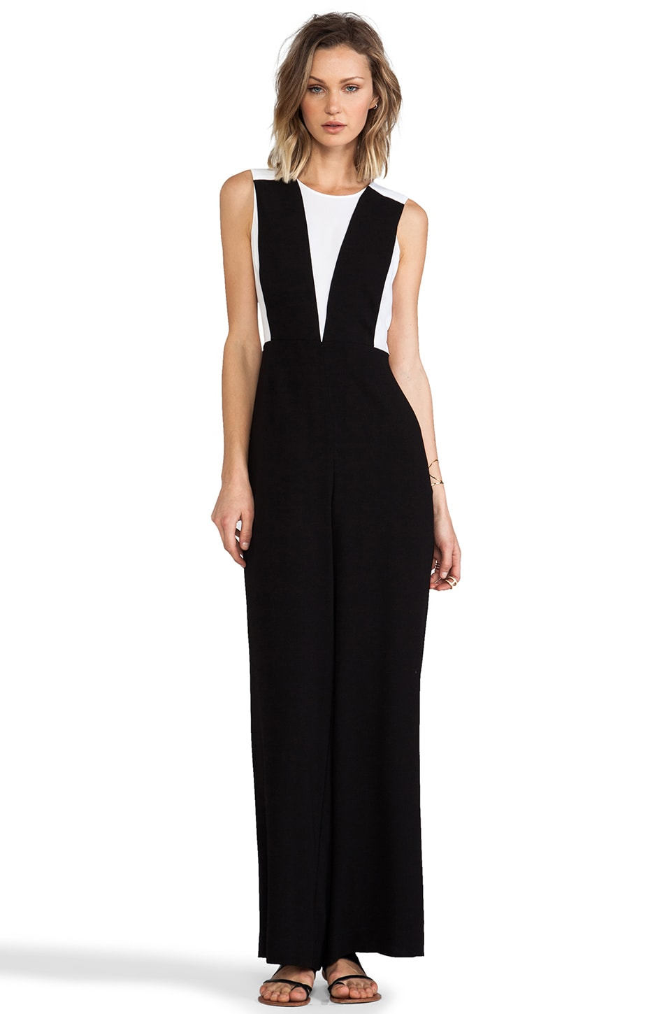 BCBGMAXAZRIA Galiena Jumpsuit in Black