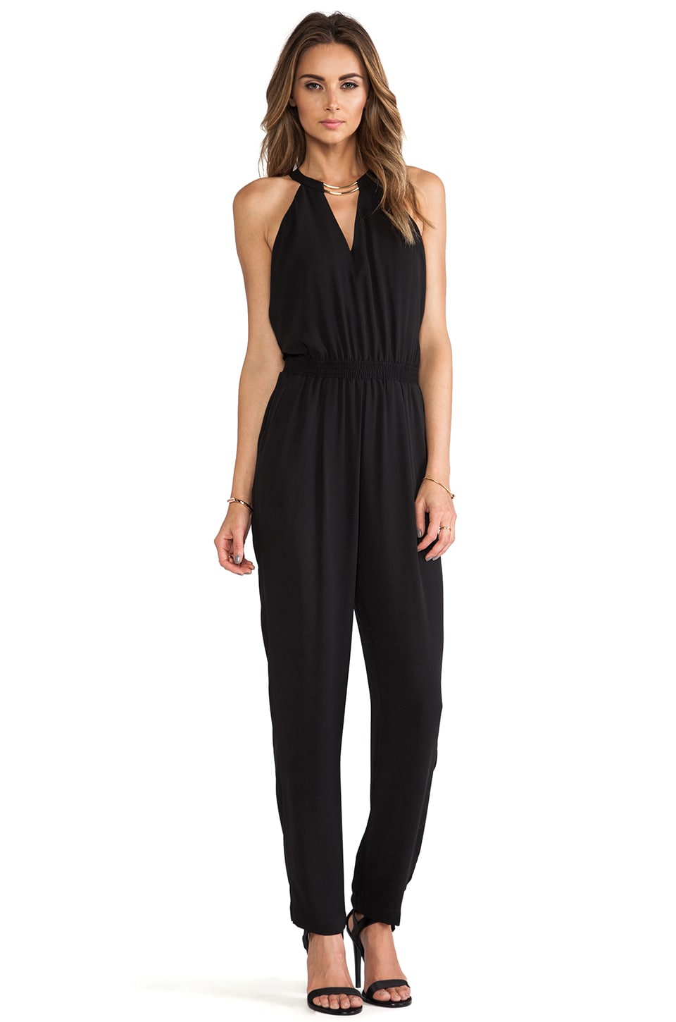 BCBGMAXAZRIA Zoelle Jumpsuit in Black