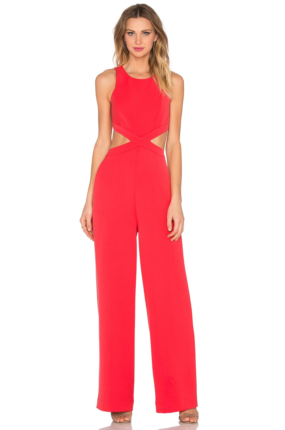 BCBGMAXAZRIA Emjay Jumpsuit in Red Berry