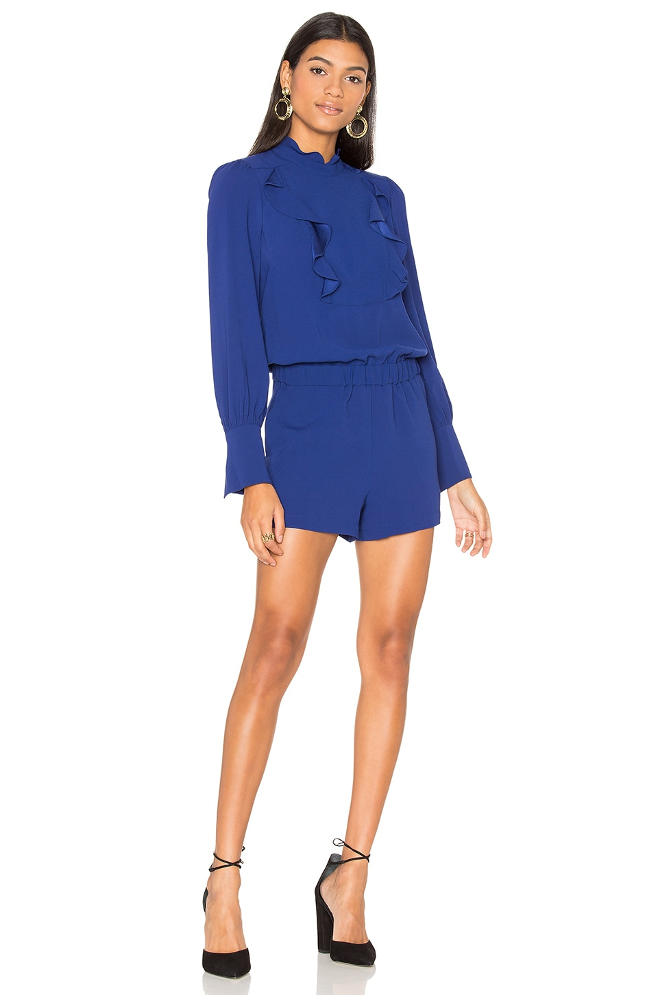 BCBGMAXAZRIA Aimee Romper in Deep Royal Blue