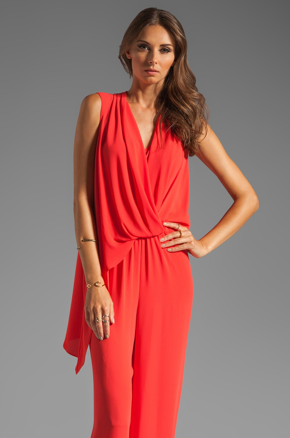 BCBGMAXAZRIA Pant Romper in Orange