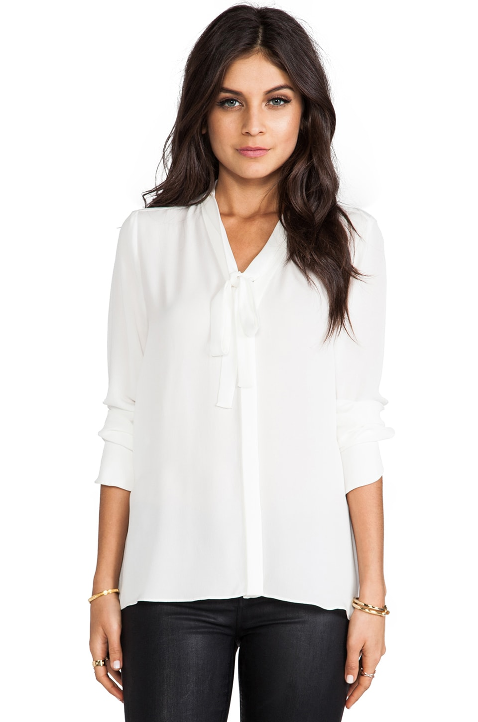 BCBGMAXAZRIA Bellona Top in White