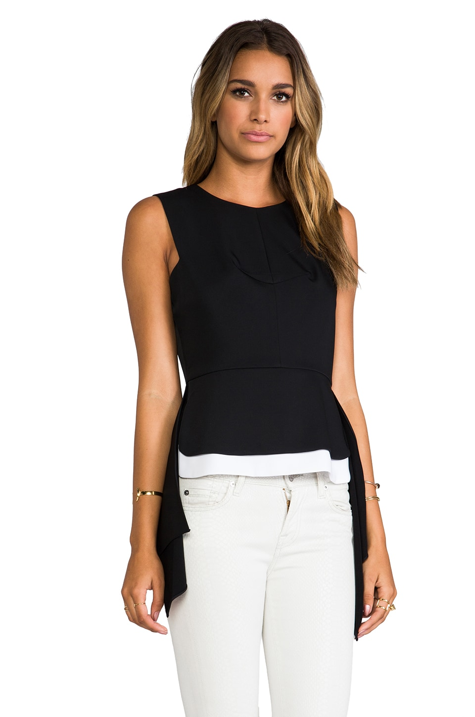 BCBGMAXAZRIA Ariana Top in Black