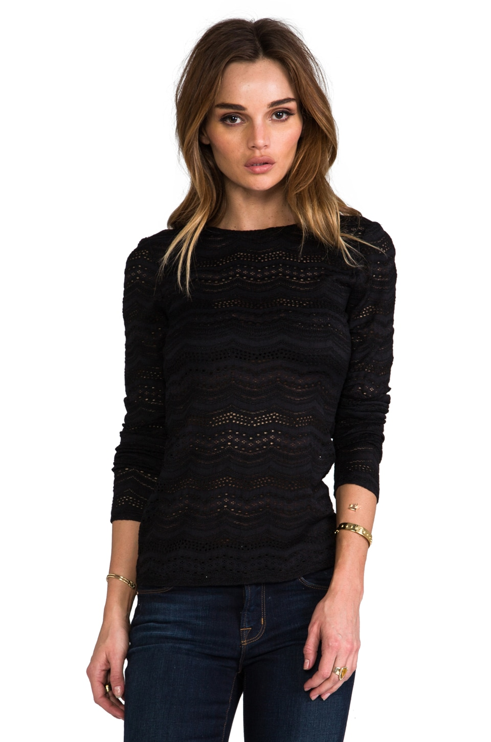 BCBGMAXAZRIA Fae Top in Black