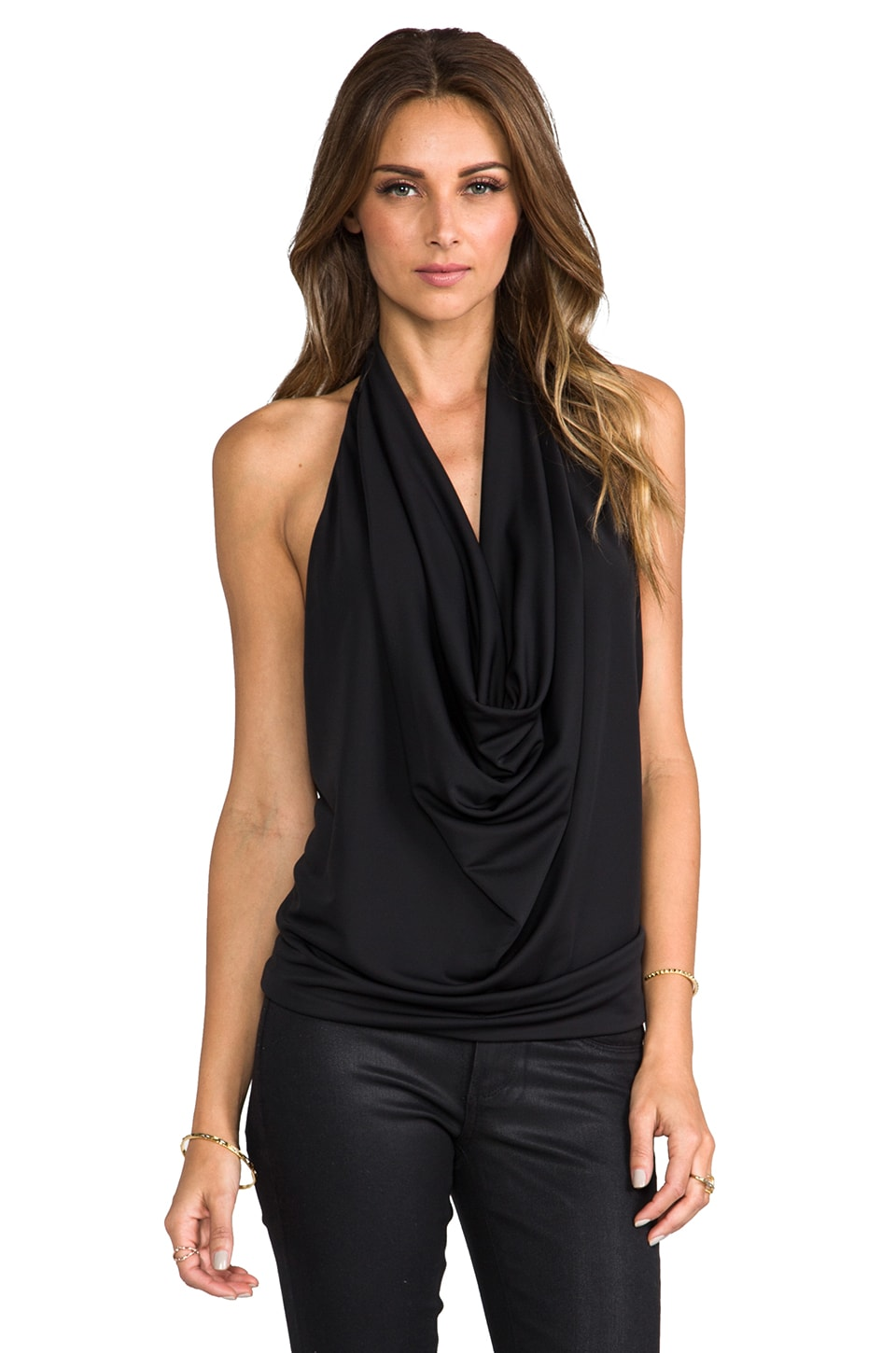 BCBGMAXAZRIA Ebony Top in Black