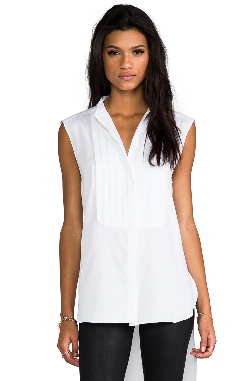 BCBGMAXAZRIA Callista Top in White
