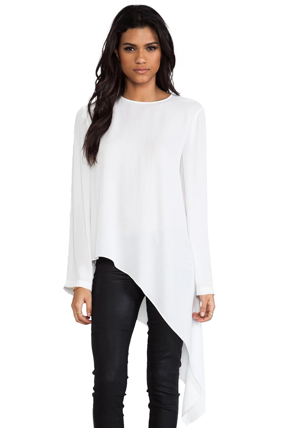 BCBGMAXAZRIA Madine Top in White