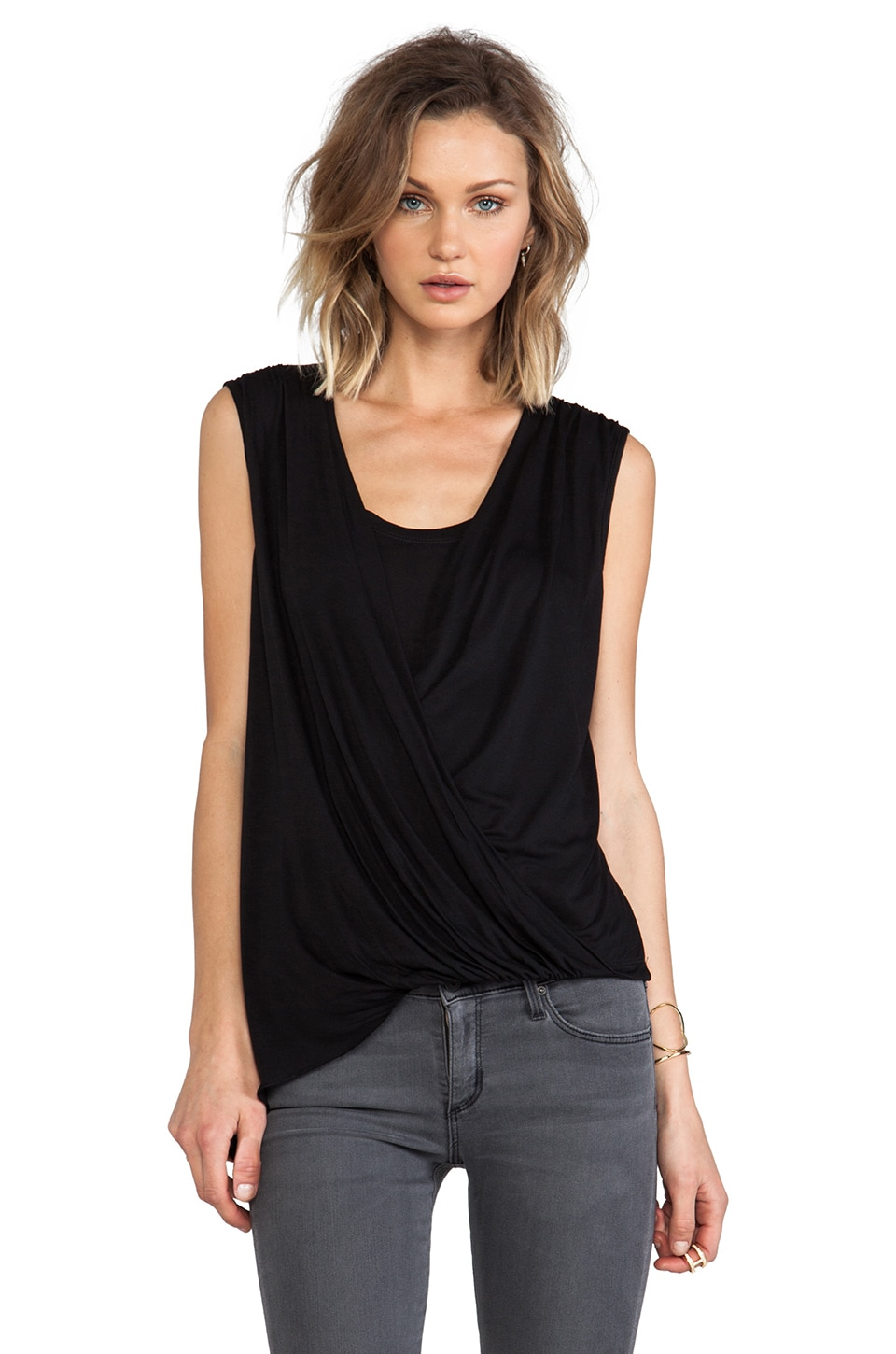 BCBGMAXAZRIA Brooke Blouse in Black
