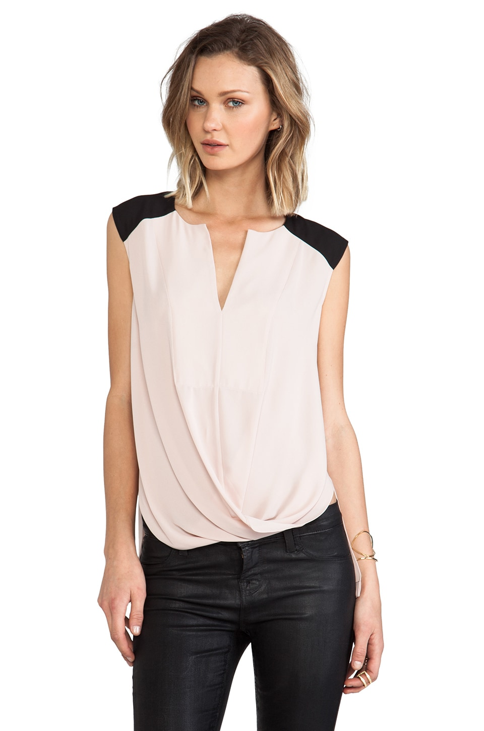 BCBGMAXAZRIA Giselle Color Block Tank in Bare Pink