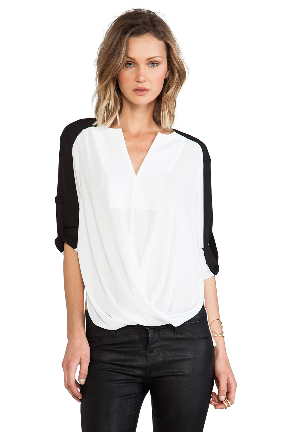 BCBGMAXAZRIA Gisella Blouse in White