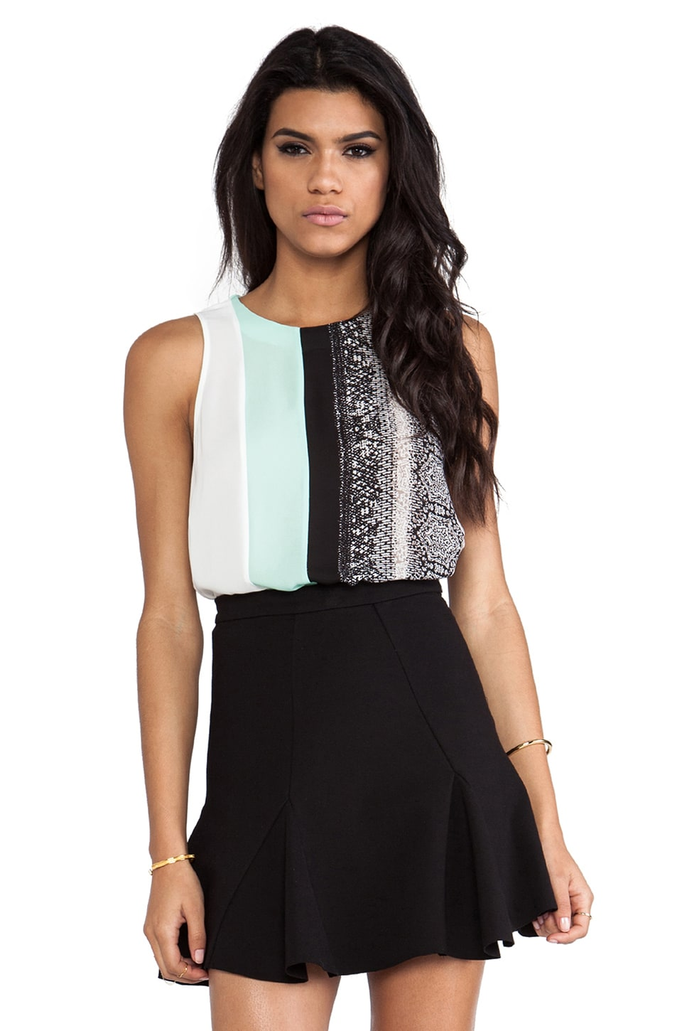 BCBGMAXAZRIA Eleeza Top in Black Combo