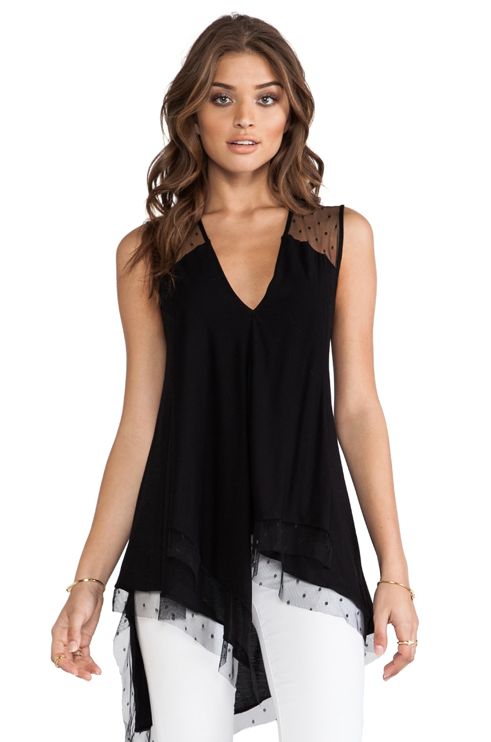 BCBGMAXAZRIA Brooke Top in Black