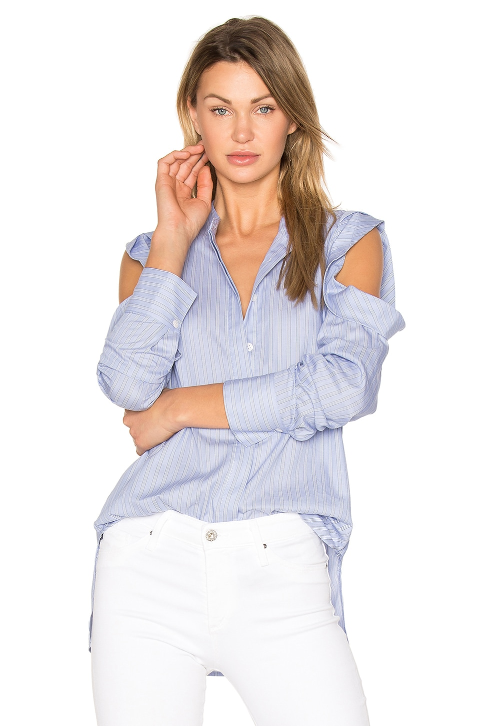 BCBGMAXAZRIA Nishani Blouse in Light Blue Combo
