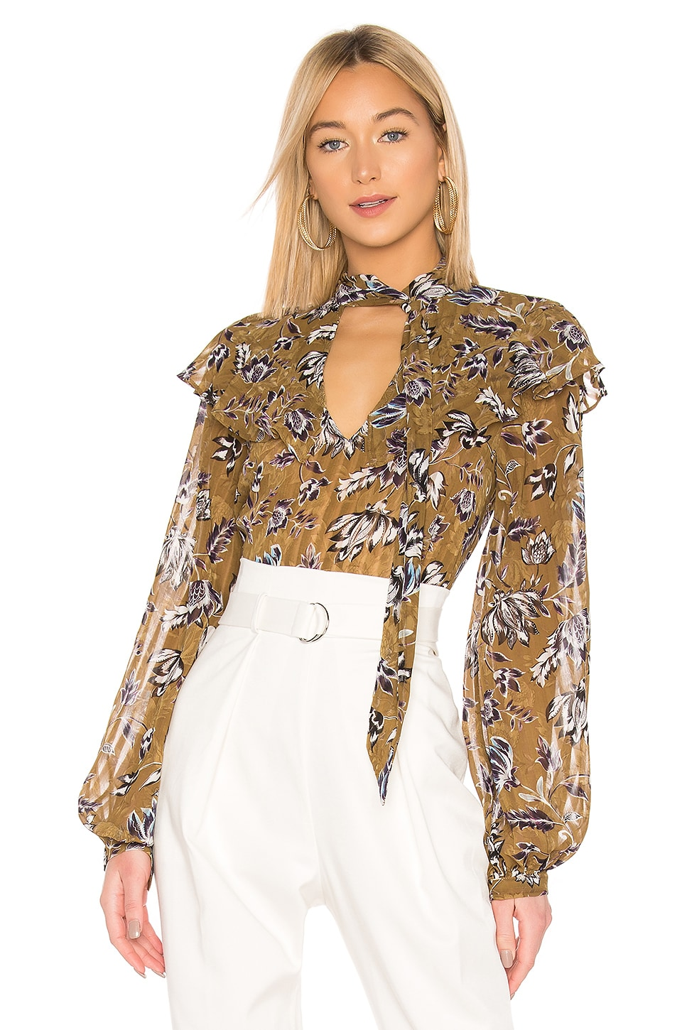 BCBGMAXAZRIA Floral Blouse in Liberty Floral