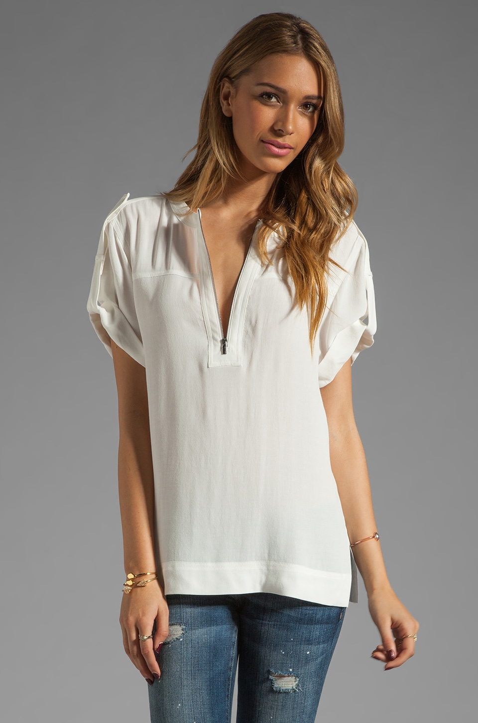 BCBGMAXAZRIA Blouse in Off White