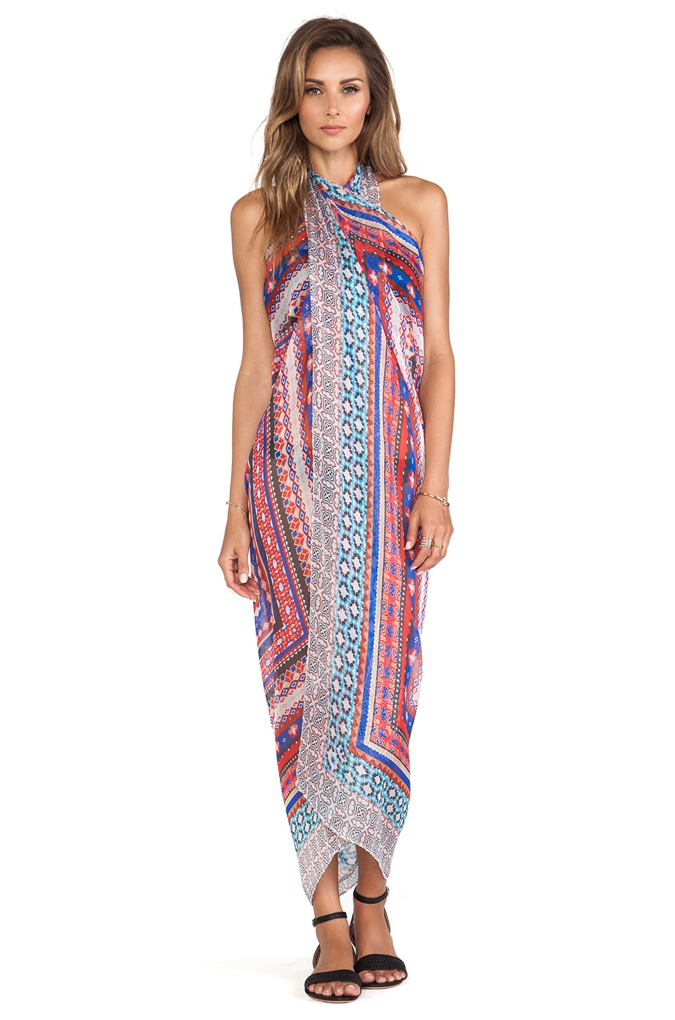 BCBGMAXAZRIA Boho Pareo in Jewel Red