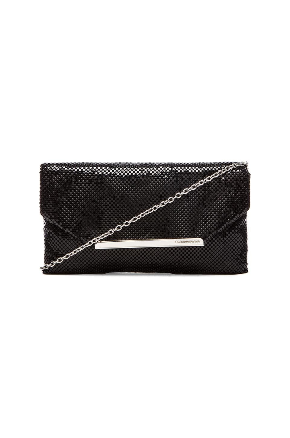 BCBGMAXAZRIA Bardot Metal Mesh Clutch in Black