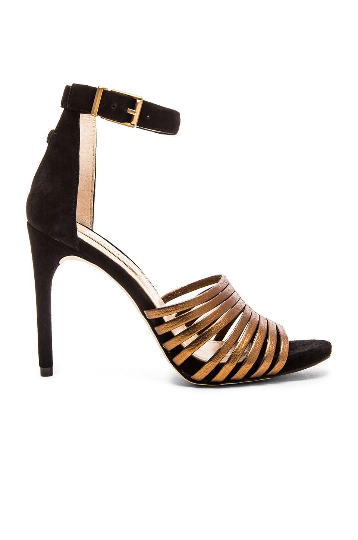 BCBGMAXAZRIA Dena Heel in Bronze & Black