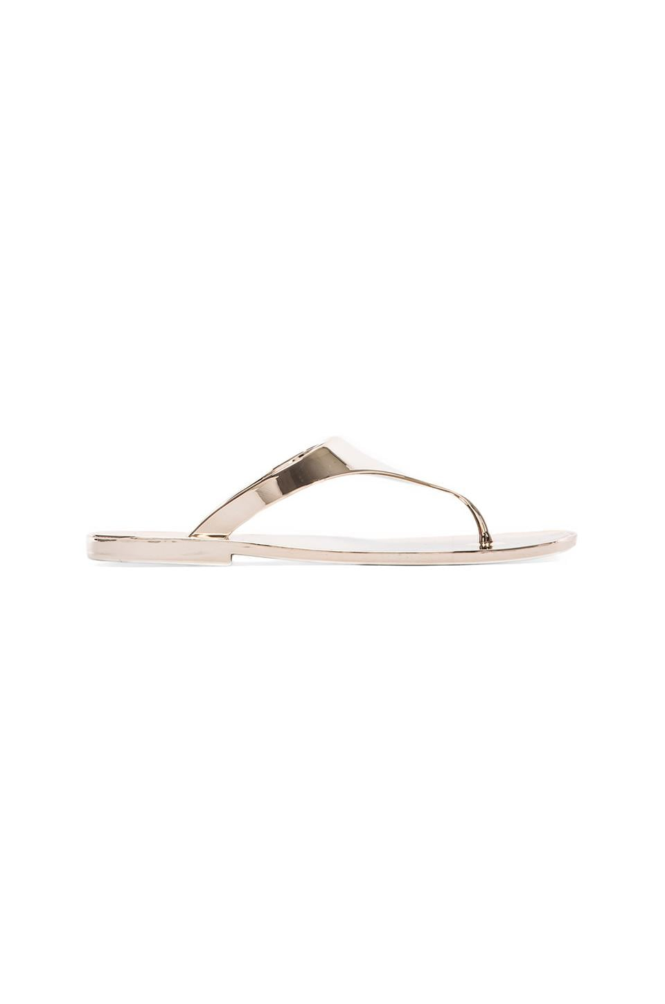 BCBGMAXAZRIA Sabba Metallic Sandal in Gold Dust