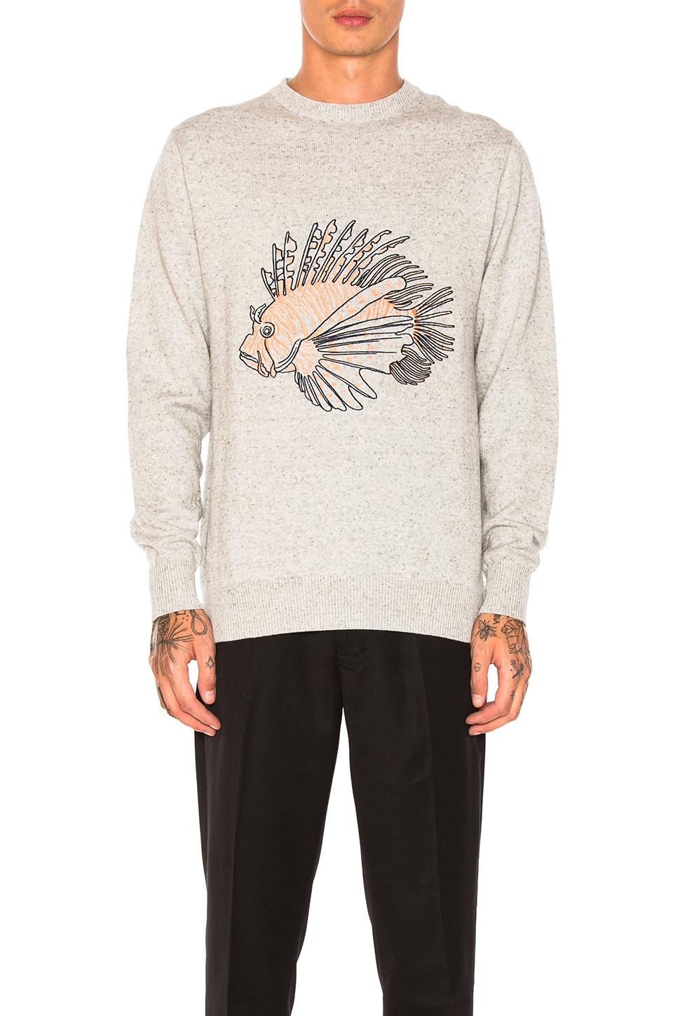 Lion Fish Knit Pullover by Barney Cools
