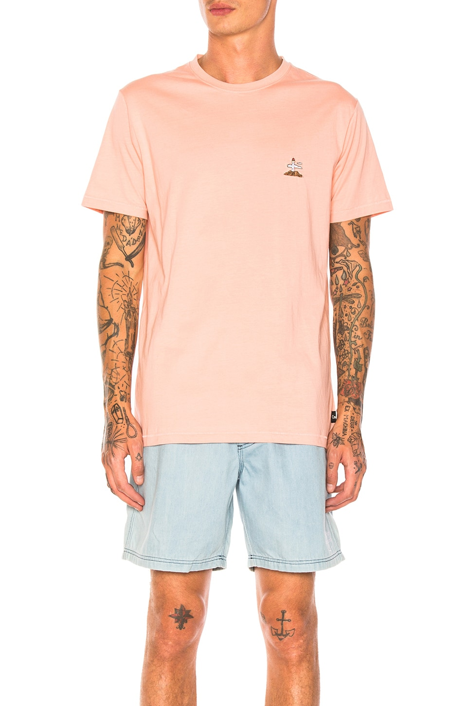 Lighthouse Tee In Pink by Barney Cools