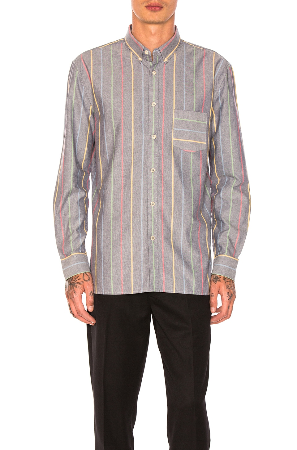 Skiffy Shirt In Stripe by Barney Cools