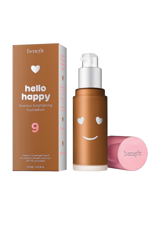 Benefit Cosmetics Women's Hello Happy Flawless Brightening Foundation In 09 Deep Neutral