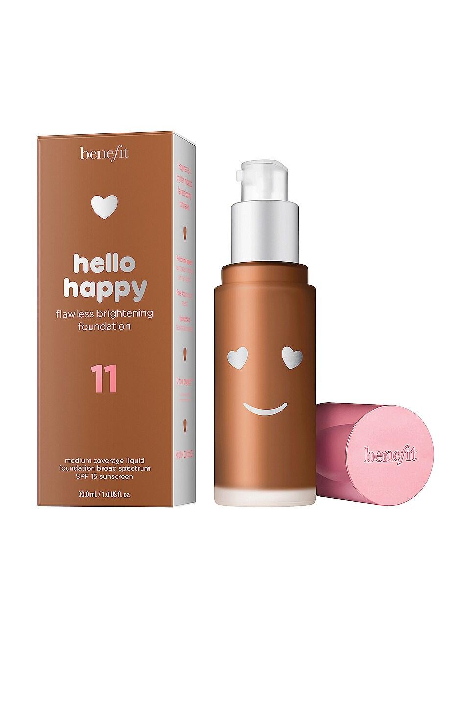 Benefit Cosmetics Benefit Hello Happy Flawless Brightening Foundation Spf 15, 1 oz In Shade 11- Dark Neutral