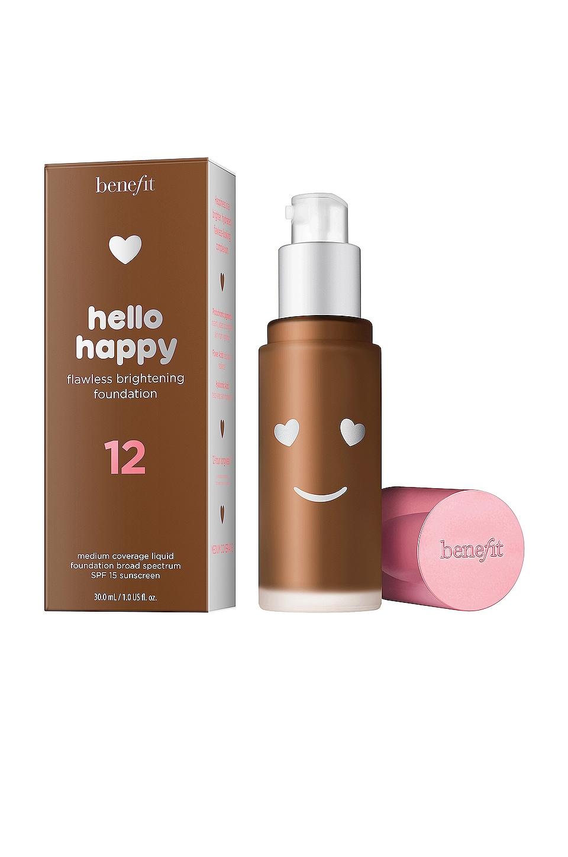 Benefit Cosmetics Hello Happy Flawless Brightening Liquid Foundation in 12 Dark Warm