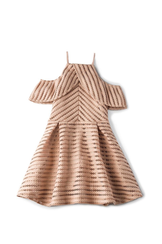 Bardot Junior Drape Vertical Limits Dress in Dusty Pink