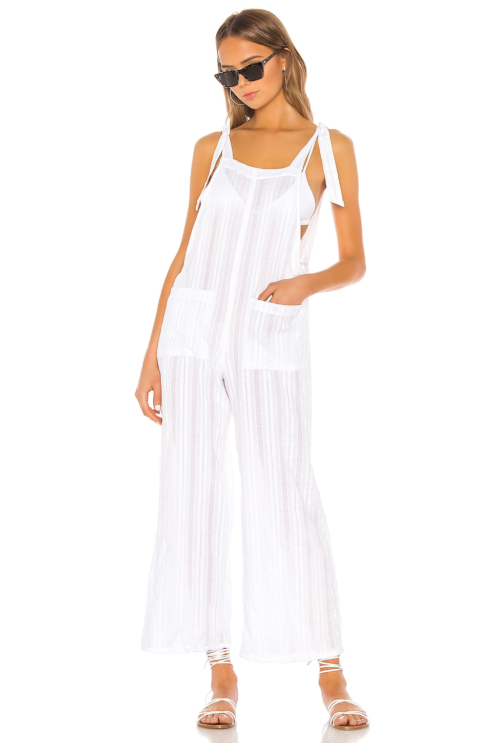 Beach Bunny Daisy Jumpsuit in White