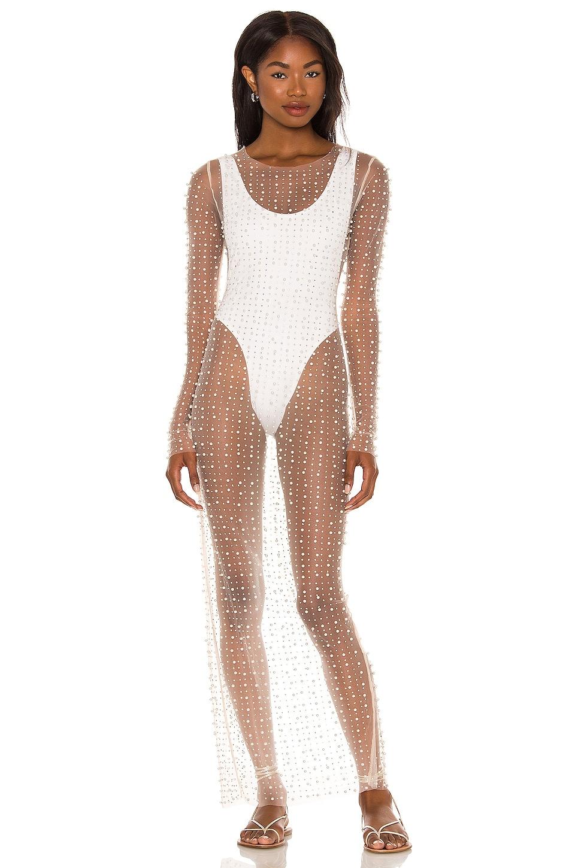 Beach Bunny Champagne Nights Mesh Dress in Nude