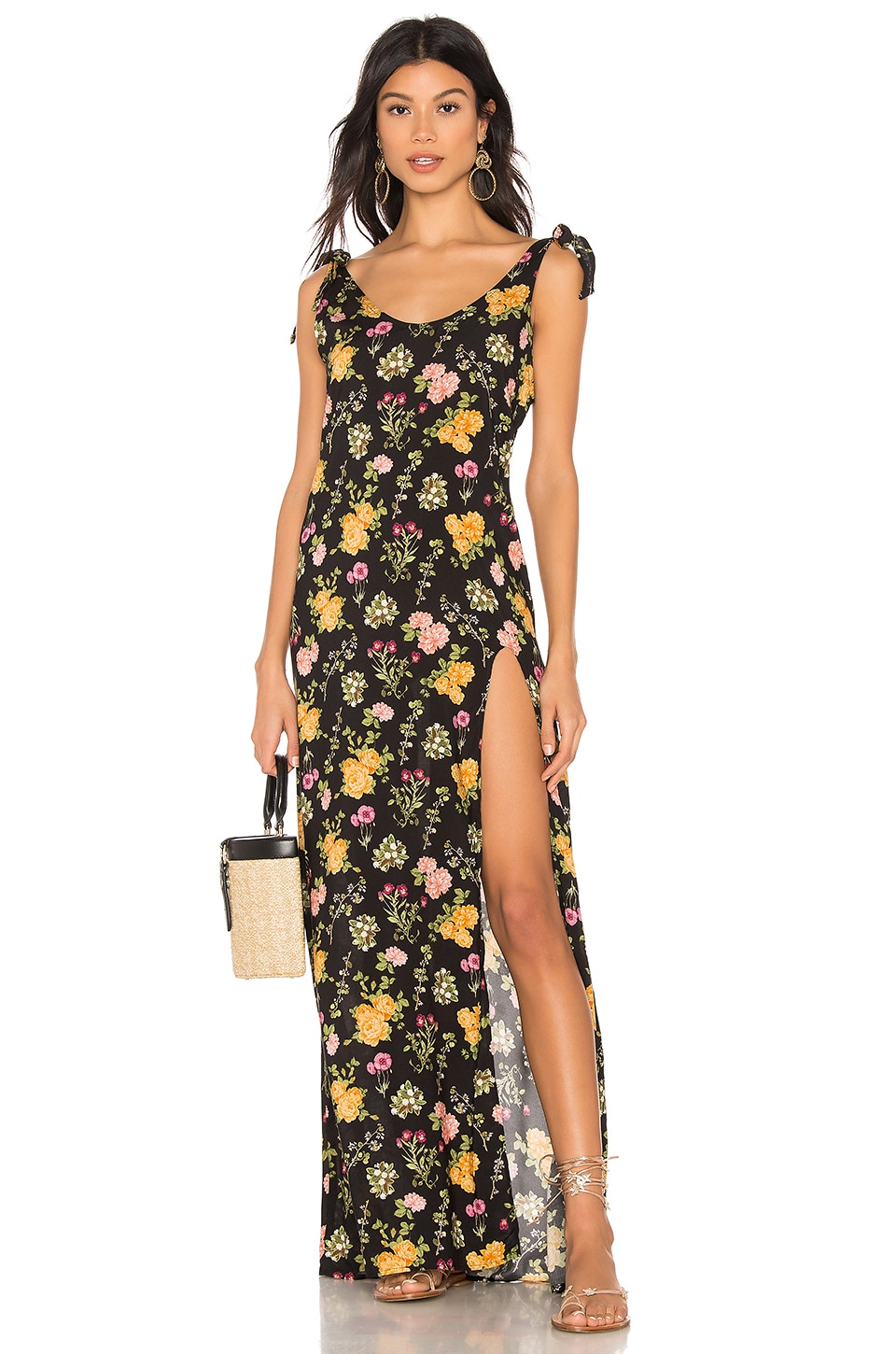 Beach Bunny Lily Maxi Dress in Black