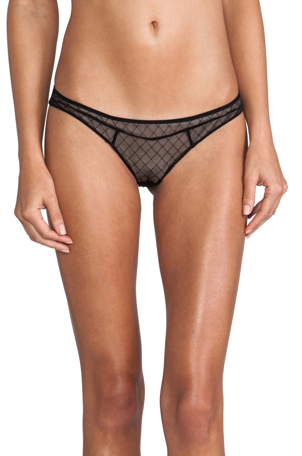 Beach Bunny Classy Couture Hipster Panty in Black