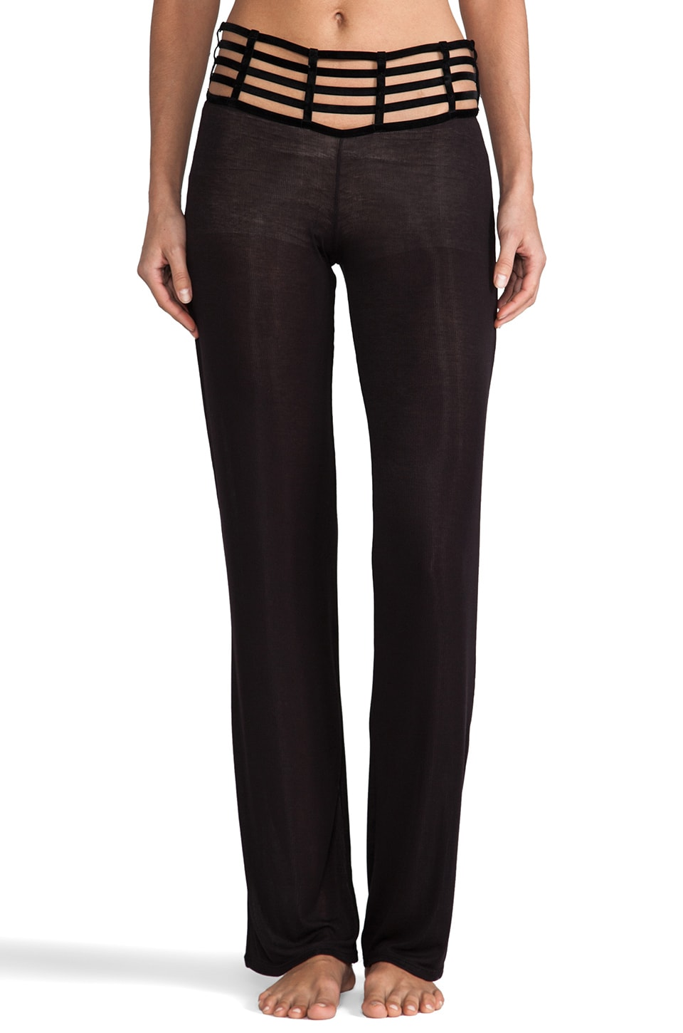 Beach Bunny Barely There Caged Pant in Black
