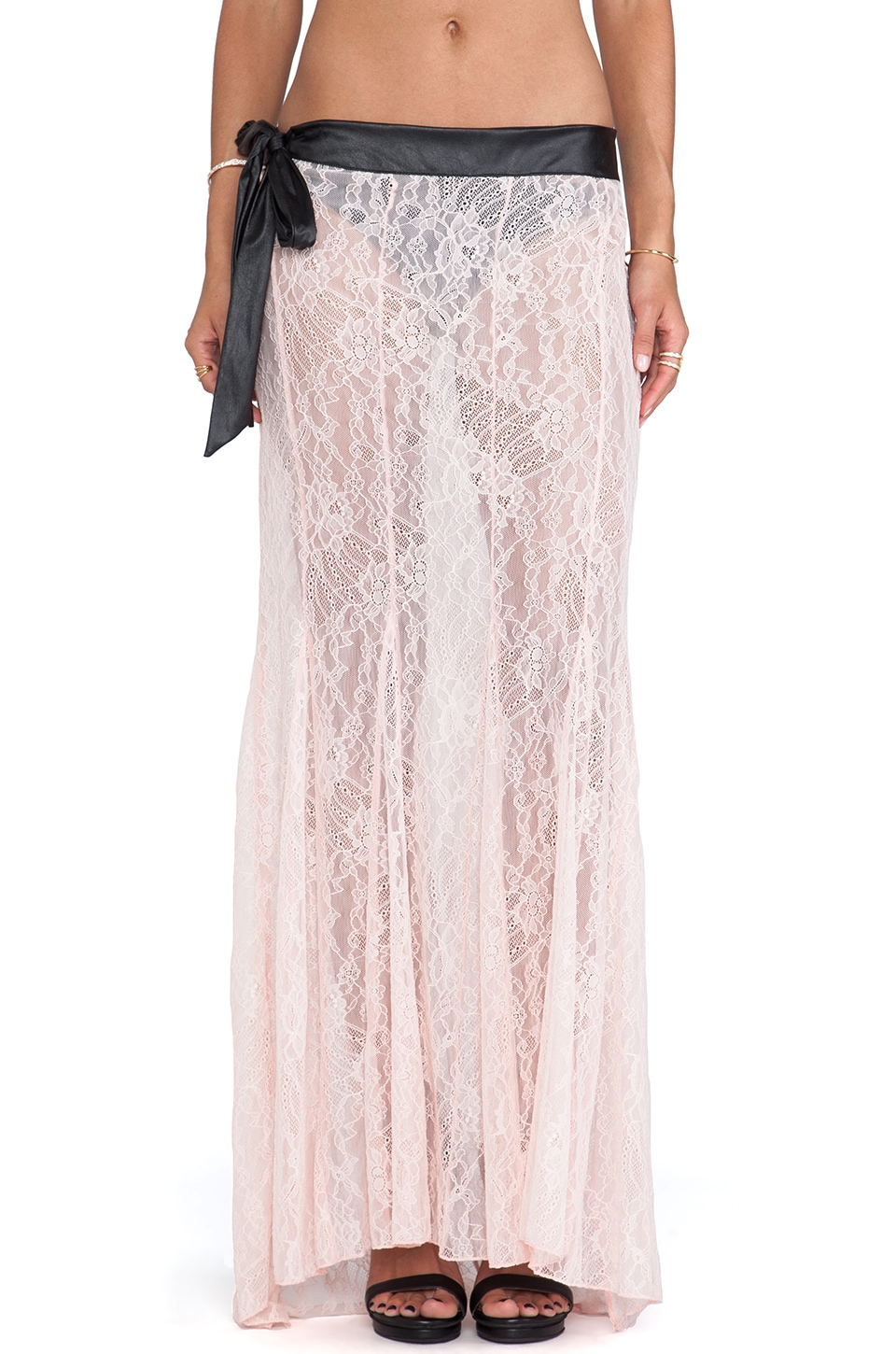 Beach Bunny Bedroom Eyes Maxi Skirt in Blush