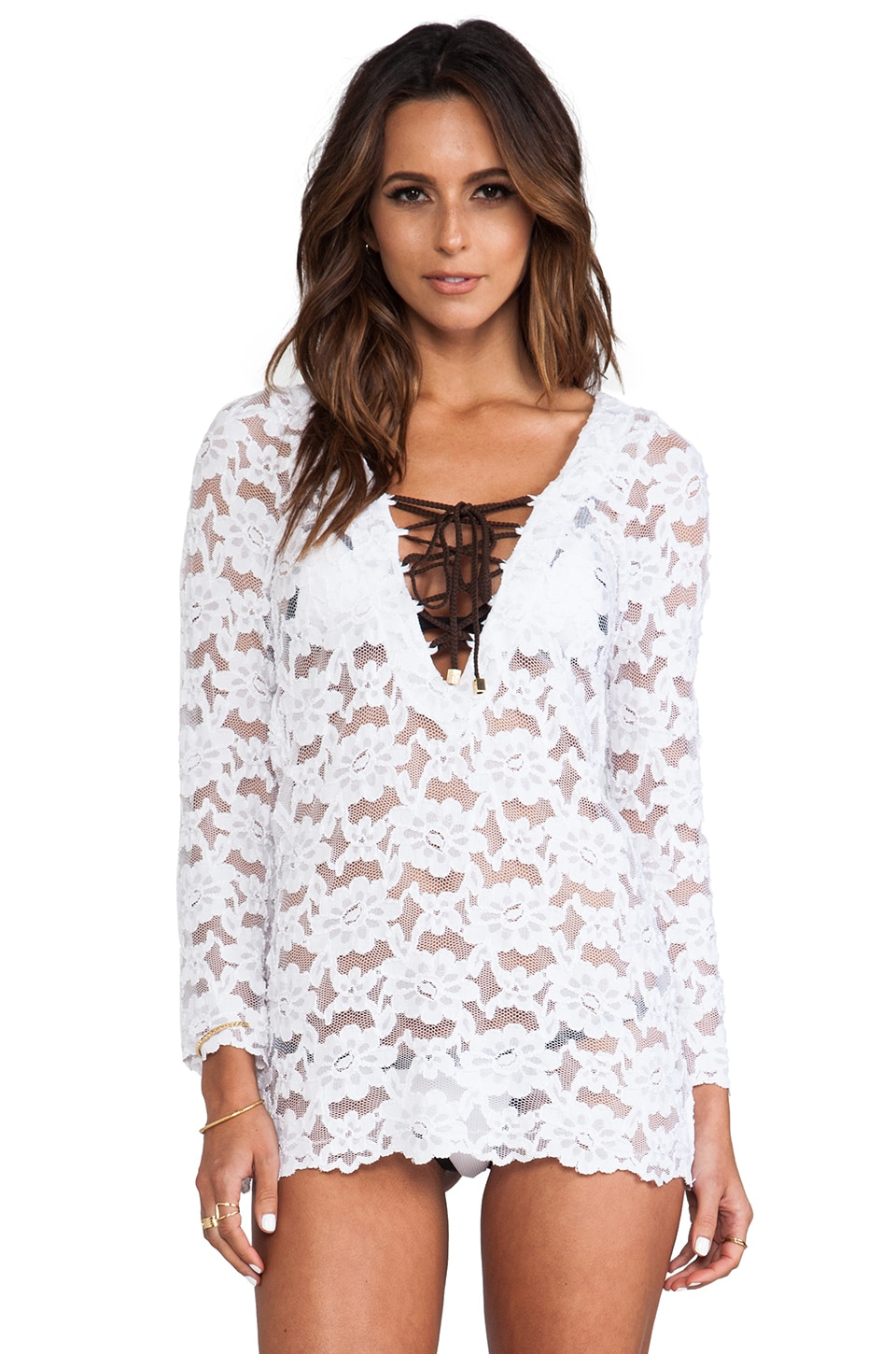 Beach Bunny Lady Lace Marilyn Cover-Up in White