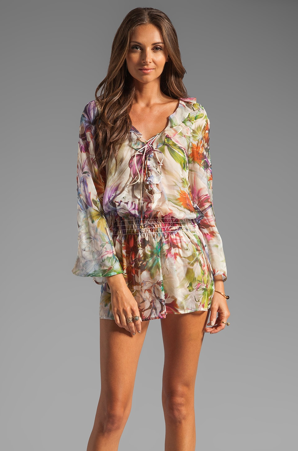 Beach Bunny Garden Party Tunic in Tropical