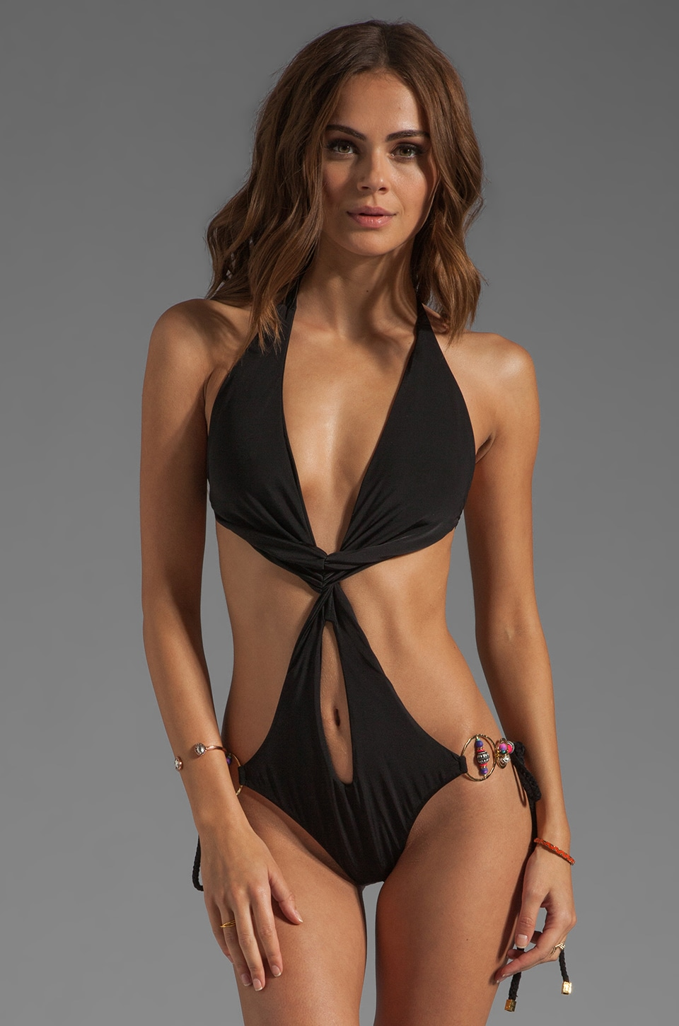 Beach Bunny This Is Love One-Piece in Black