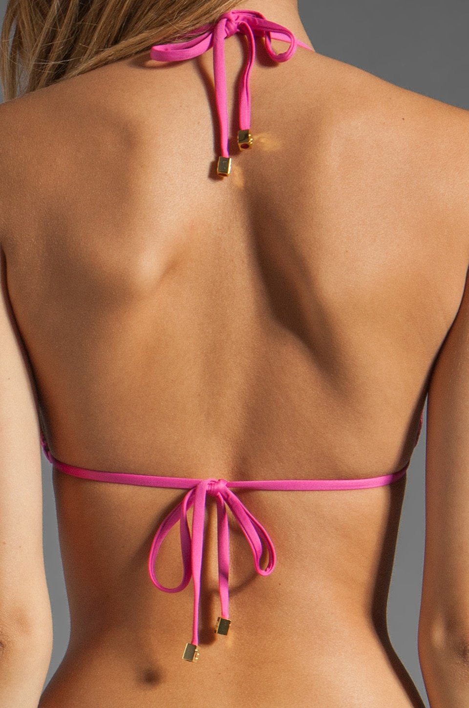 Beach Bunny Sugar Rush Bikini Top in Fuchsia