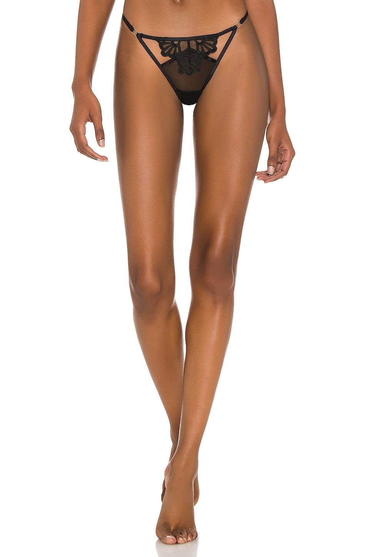 Bluebella Carmen Harness Thong Knickers Briefs Black Size 10