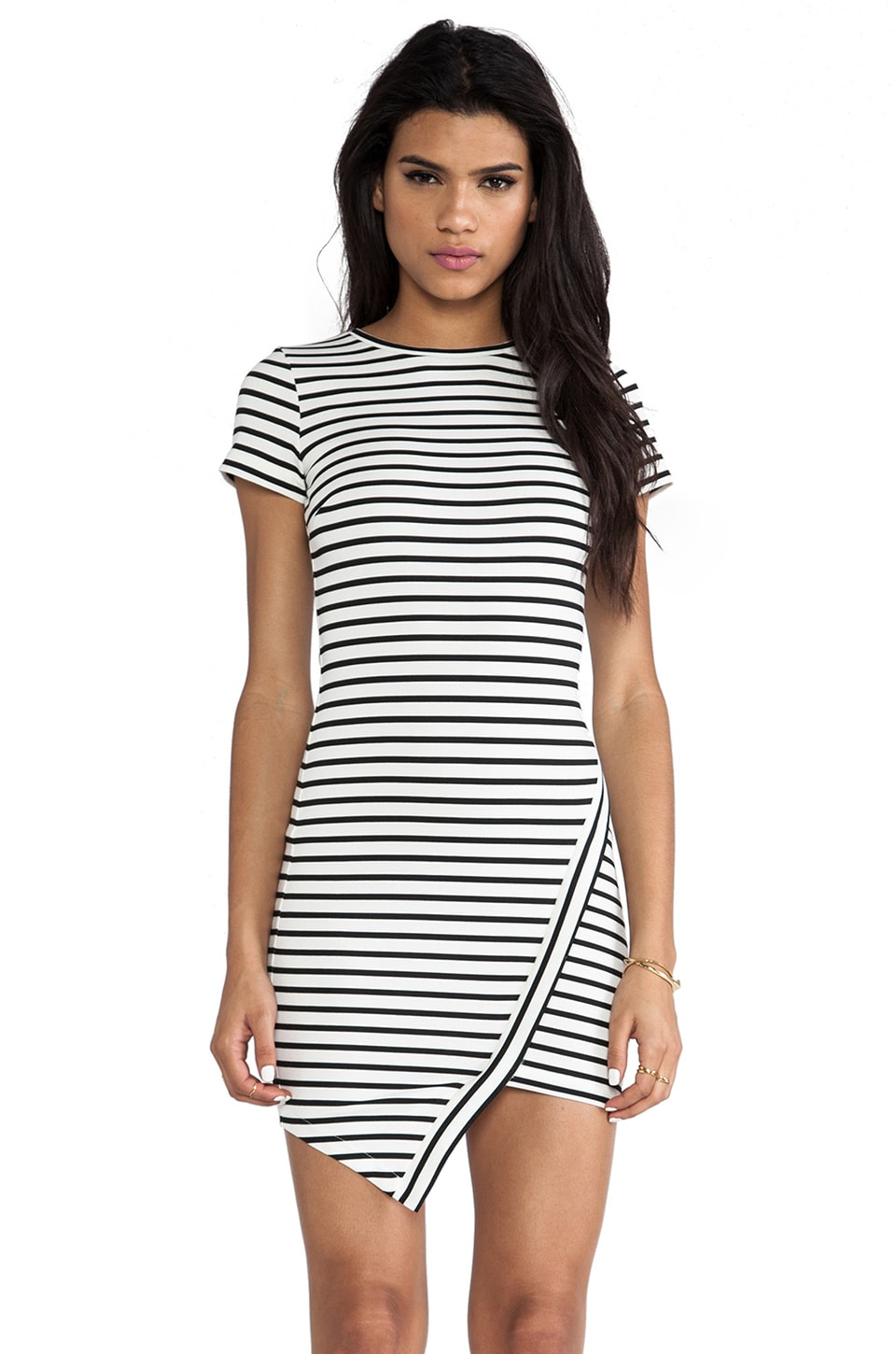 BEC&BRIDGE Elements Sleeveless Dress in White Stripe