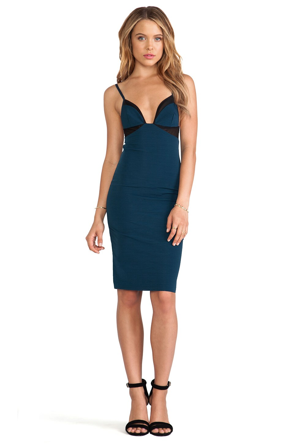 BEC&BRIDGE Mercury Body Dress in Petrol